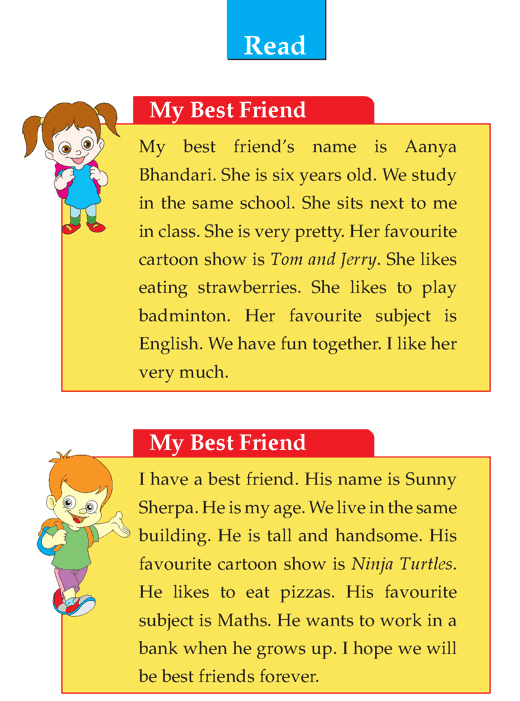 grade descriptive writing my best friend composition writing  writing skill grade 1 descriptive my best friend 2
