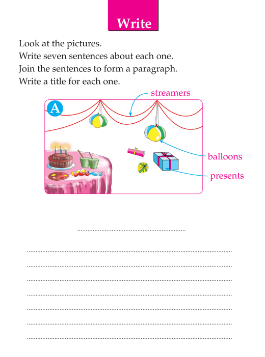 Writing skill - grade 1 - picture composition  (10)