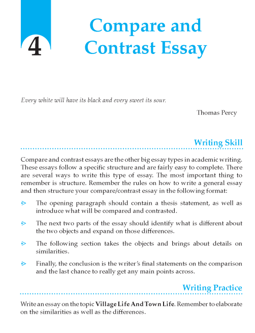 grade compare and contrast essay composition writing skill writing skill grade 10 page 049