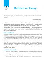 Grade 10 Reflective Essay