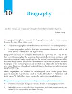 Grade 10 Biography
