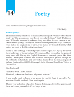 Grade 10 Poetry