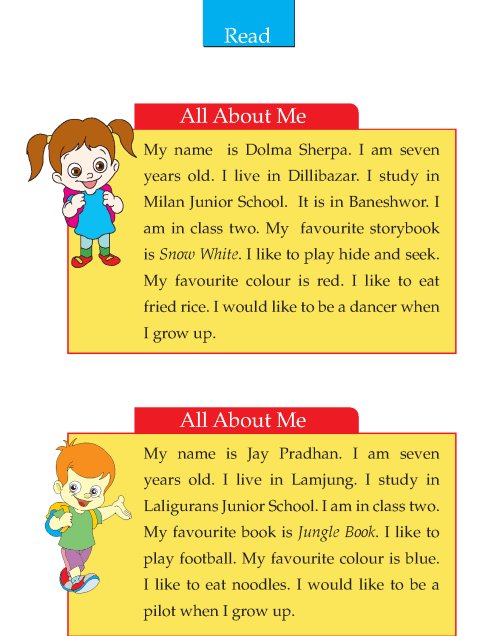 Writing skill - grade 2 - all about me  (2)