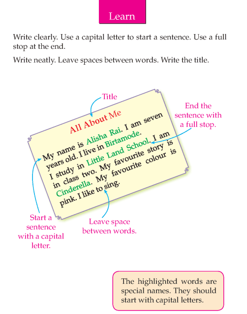 Writing skill - grade 2 - all about me  (4)
