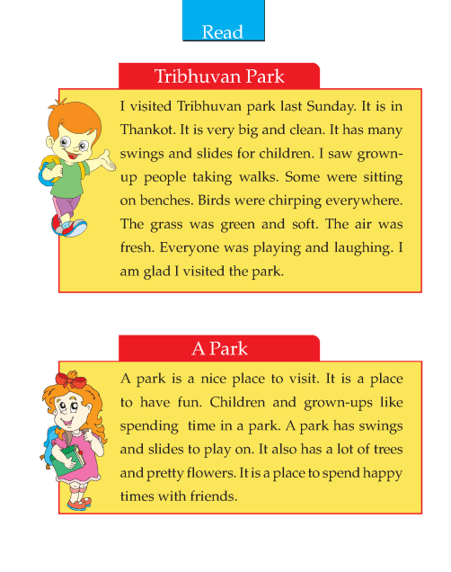 Writing skill - grade 2 - the park (2)