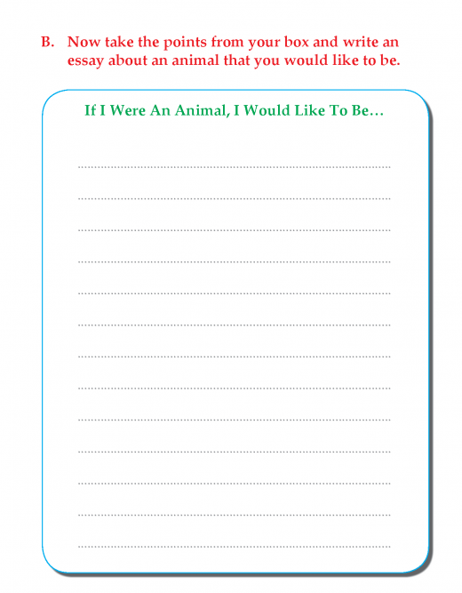 Writing skill - grade 3 - if i were an animal ,i would  like to be  (5)