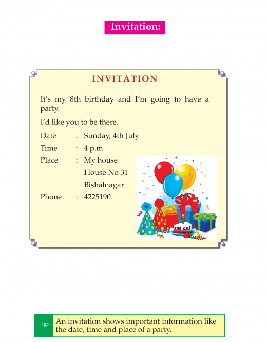 Writing skill - grade 3 - invitation and thank you card   (2)