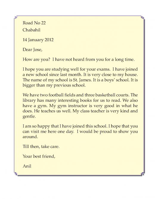 Writing skill -grade 3 - letter writing  (5)