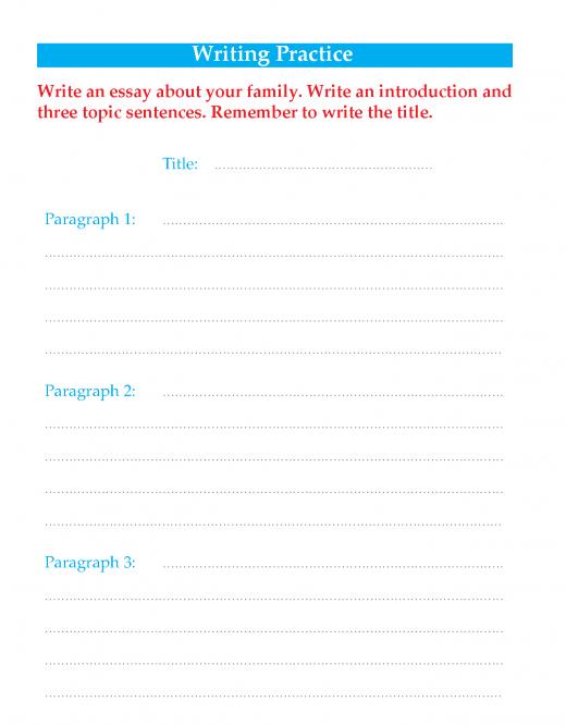 Writing skill - grade 3 - my family  (5)