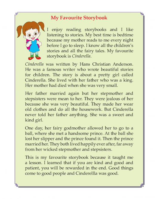 Writing skill - grade 3 - my favourite story book  (3)