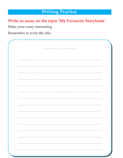 Writing skill - grade 3 - my favourite story book  (4)