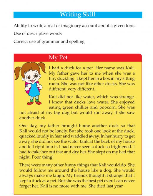Writing skill - grade 3 - my pet  (2)