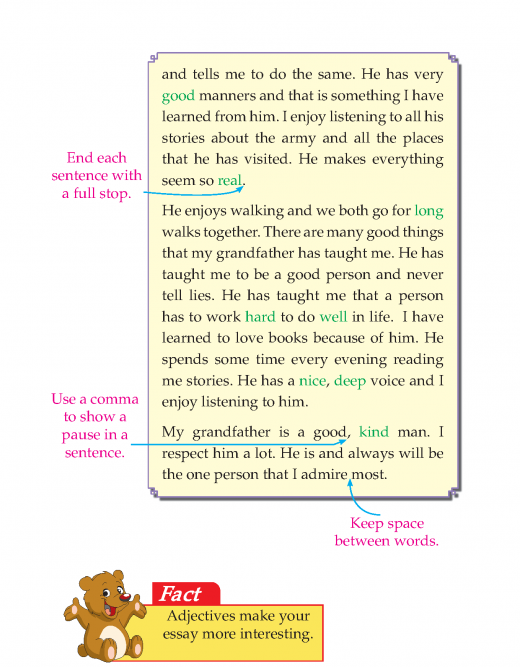 Writing skill -grade 3 - the person i admire most  (3)