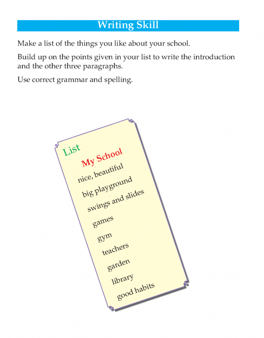 Writing skill -grade 3 - things i like about my school   (2)
