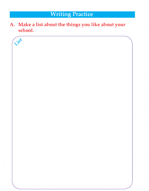 Writing skill -grade 3 - things i like about my school   (4)