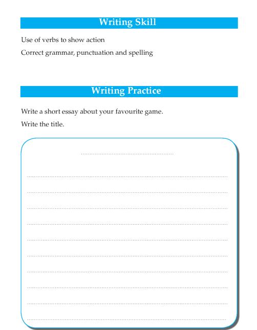 Writing skill - grade 4 - my favourite game  (2)