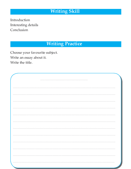Writing skill - grade 4 - my favourite subject  (2)