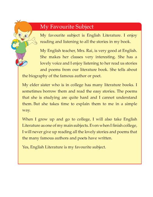 Writing skill - grade 4 - my favourite subject  (4)