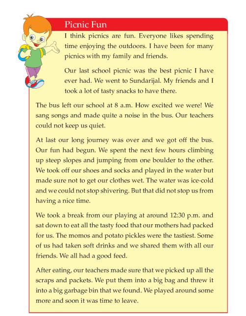 Writing skill - grade 4 - picnic fun  (4)
