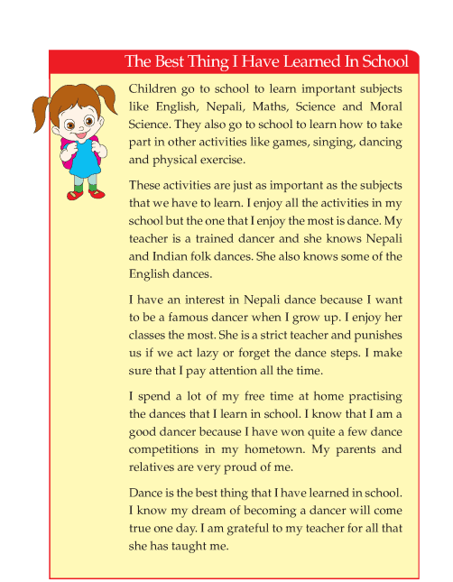 Writing skill - grade 4 - the best thing i have learned in school  (4)