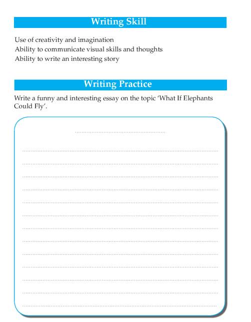 Writing skill - grade 4 - what if elephant could fly  (2)