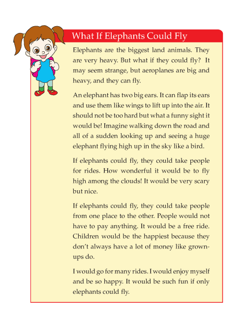 Writing skill - grade 4 - what if elephant could fly  (4)