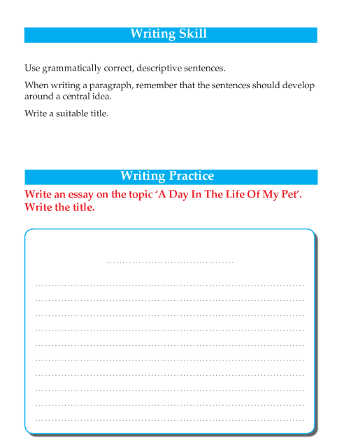 Writing skill - grade 5 - a day in the life of my pet  (2)