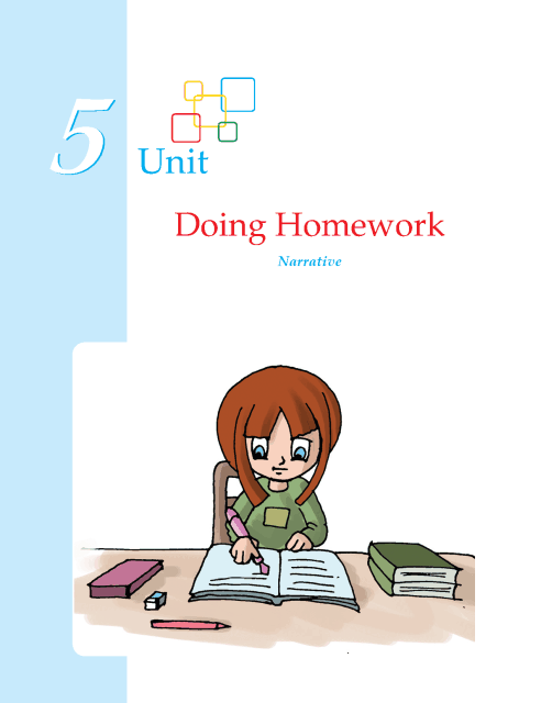Writing skill - grade 5 - doing homework  (1)