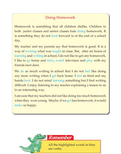 Writing skill - grade 5 - doing homework  (4)