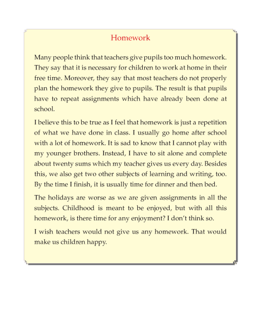 Writing skill - grade 5 - doing homework  (6)