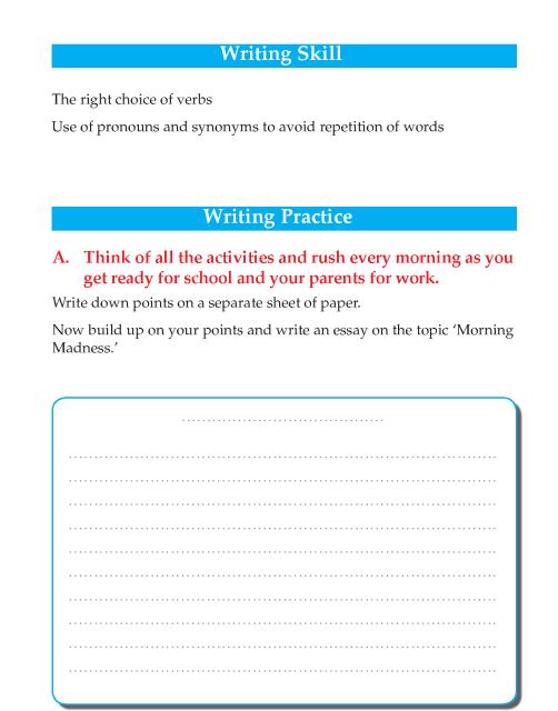 Writing skill - grade 5- morning madness  (2)