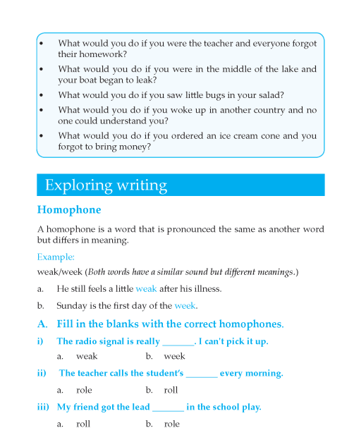 Writing skill - grade 6 - imaginative essay   (10)