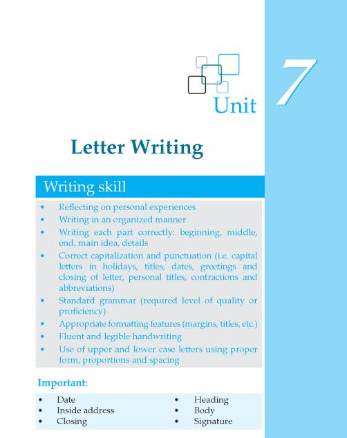 Grade 6 Letter Writing