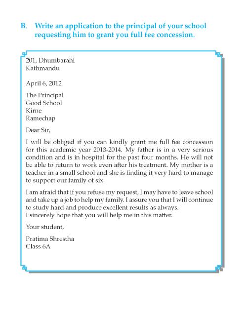 Writing skill - grade 6 - letter writing  (10)