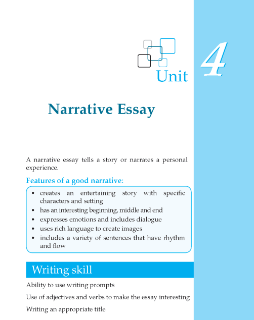 Writing skill - grade 6 - narrative essay (1)