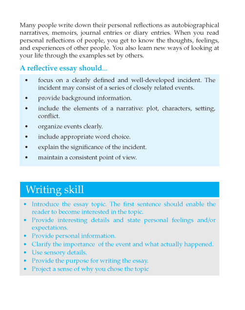 Writing skill - grade 6 - reflective essay  (2)