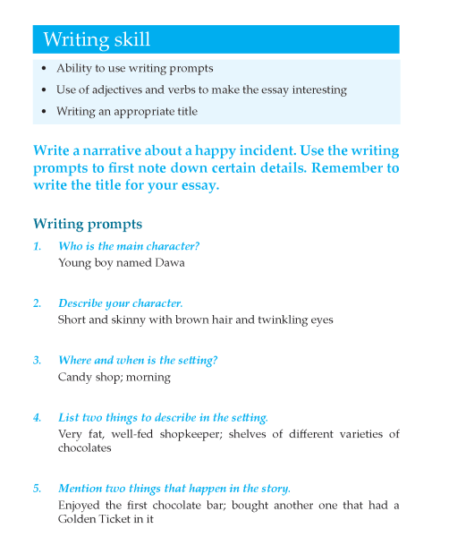 Writing skill - grade 7 - narrative essay  (2)