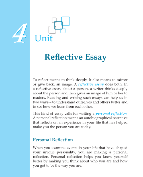 reflective essays on reading and writing Learn how to write reflective essays, structure reflective essay outline and although writing a reflective essay gives you relatively the person reading.