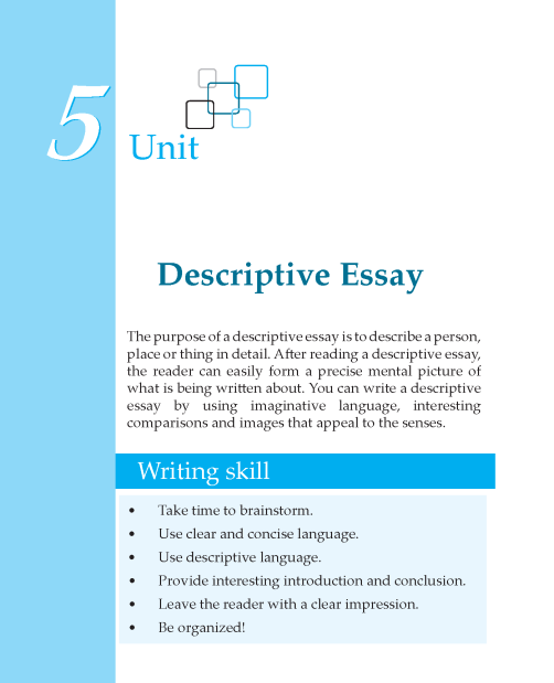 Grade 7 Descriptive Essay