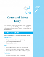 Grade 8 Cause and Effect Essay