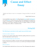 Grade 9 Cause and Effect Essay