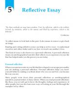 Grade 9 Reflective Essay