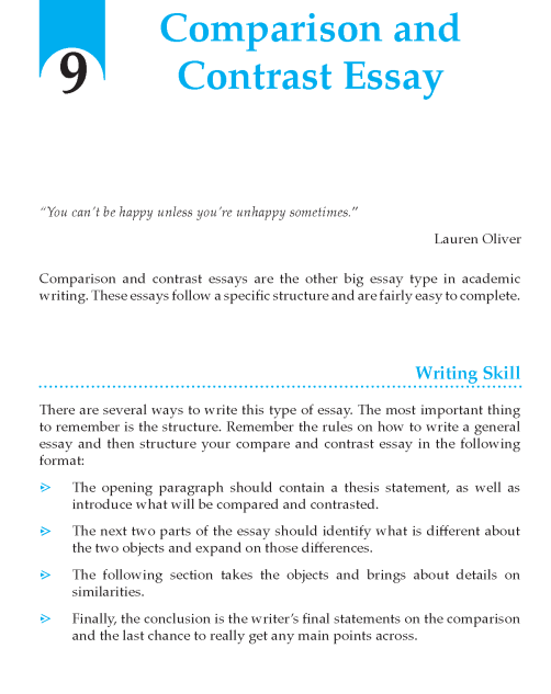 Grade 9 Comparision and contrast Essay