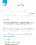 Grade 9 Poetry
